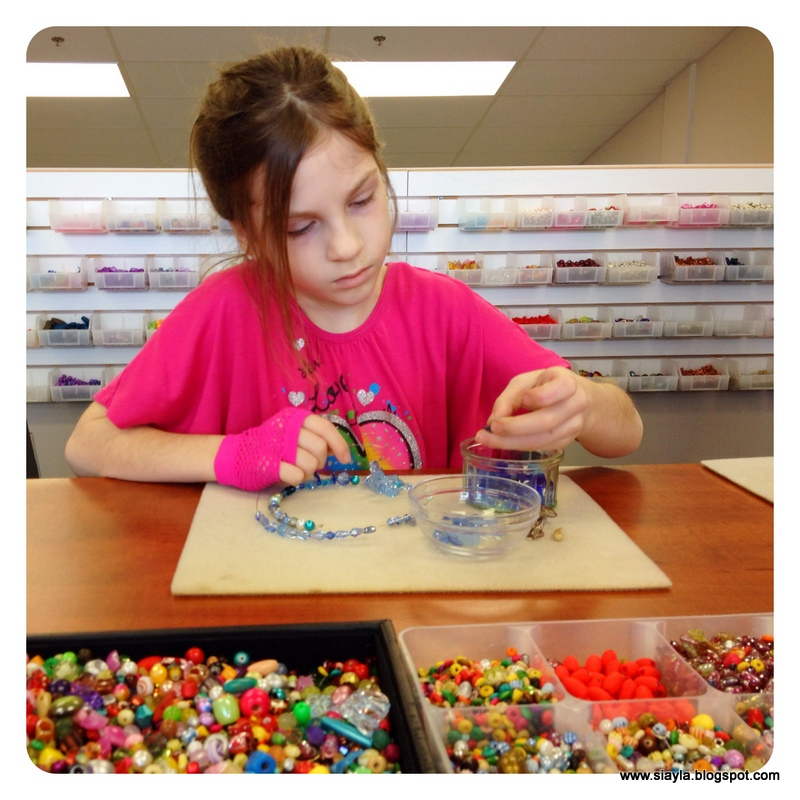 Sierra Was Very Thoughtful With The Placement Of Each Bead You Can See Concentration All Over Her Face