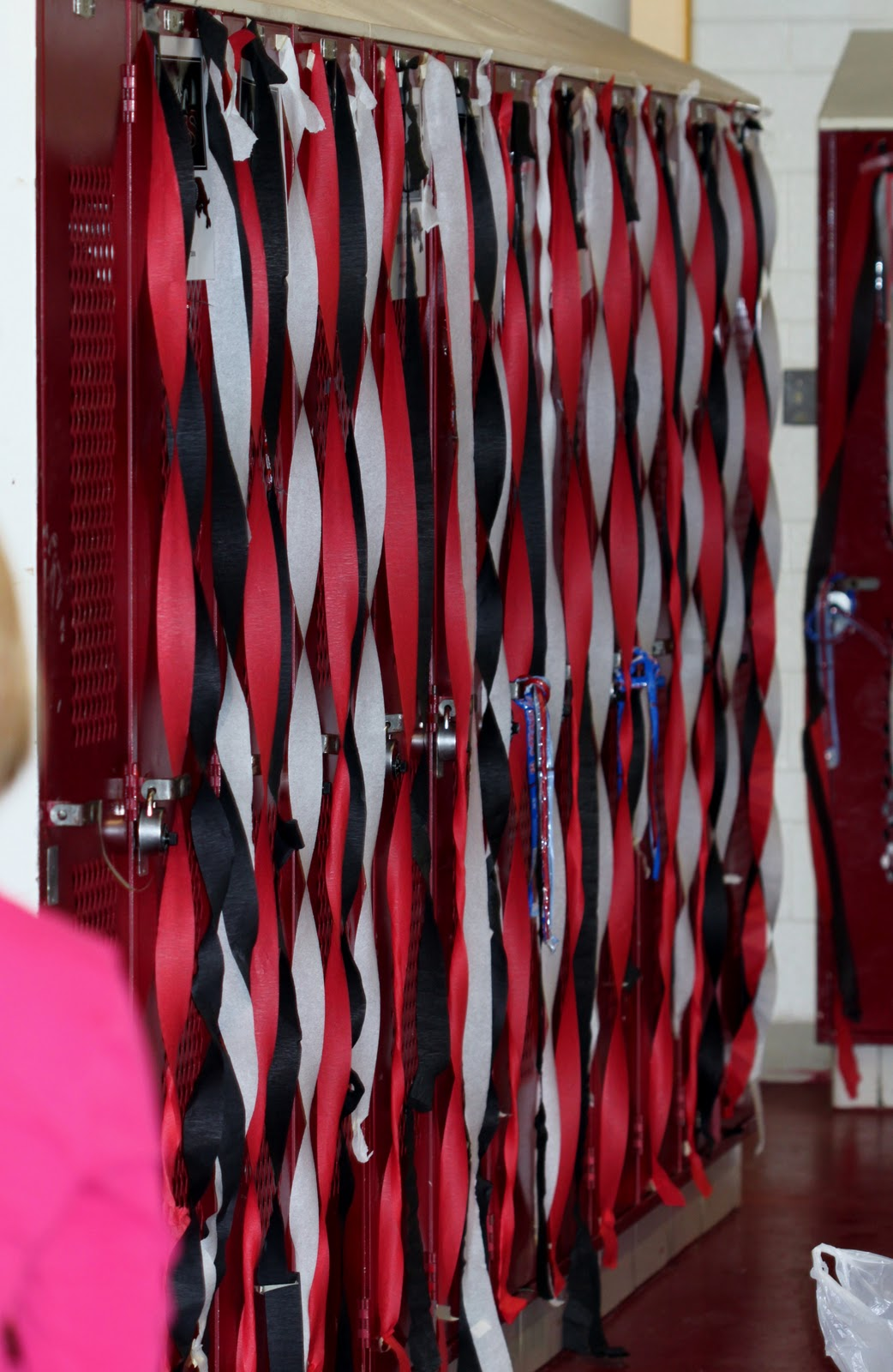 before the pep rally us football booster moms decorated the soph and