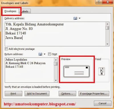 di+Microsoft+Word+2007+2 Cara Membuat Amplop Surat di Microsoft Word