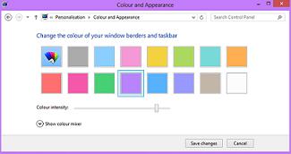 Cara mengganti warna di windows 8