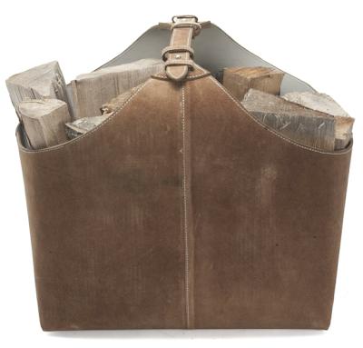 suede firewood carrier / holder