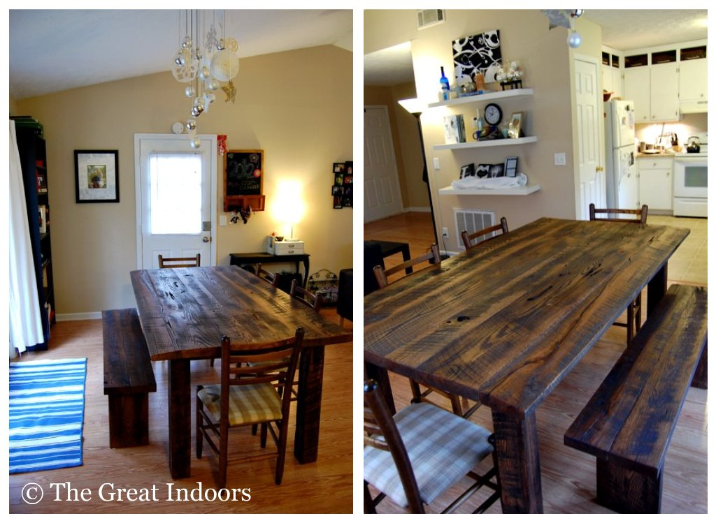 The Great Indoors Lusting over our Reclaimed Barnwood Table : 18920548599 from tatumgreatindoors.blogspot.com size 1024 x 749 jpeg 134kB