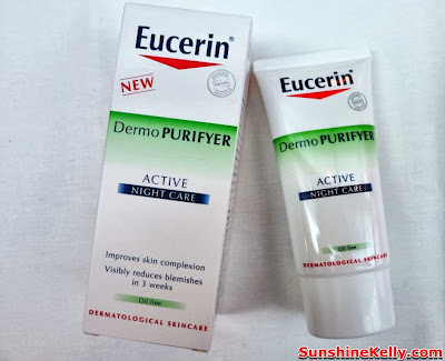 skincare, eucerin, pimples oily combination skin, review, Eucerin DermoPURIFYER Active Night Care