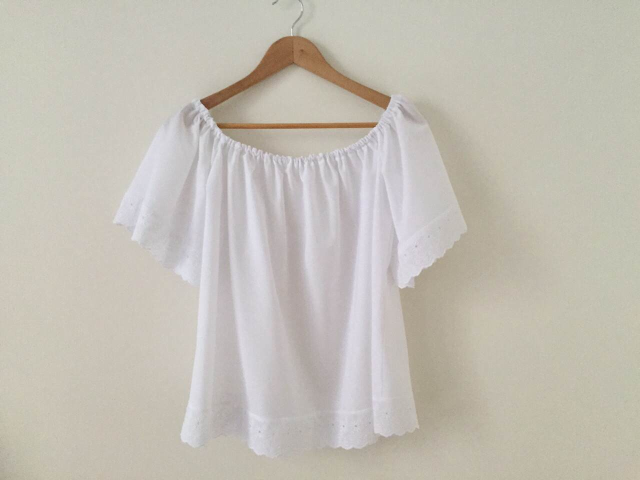 DIY Ropa: Blusa sin hombros (patrones gratis) - Handbox Craft Lovers ...