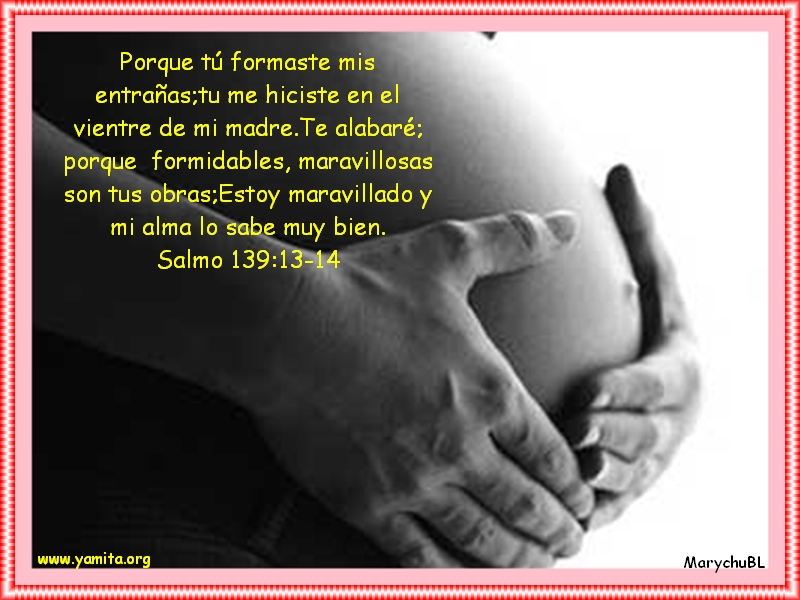 Tarjeta con texto bíblico para mujeres esperando bebes