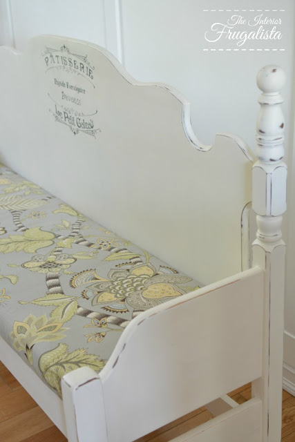 Headboard and Footboard dining bench upholstery