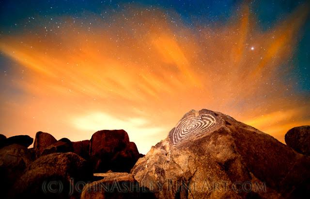 Signal Hill Spiral Petroglyph (c) John Ashley