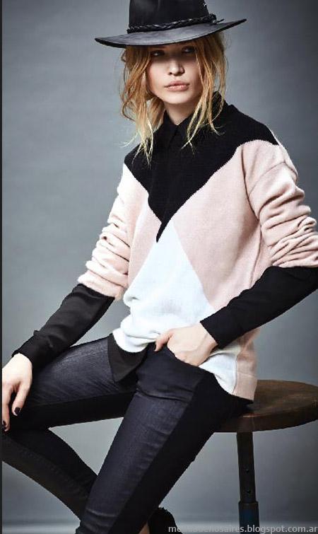 Moda invierno 2015 Akiabara sweaters.