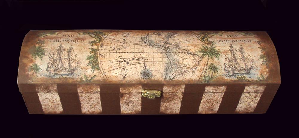 Декупаж с географической картой