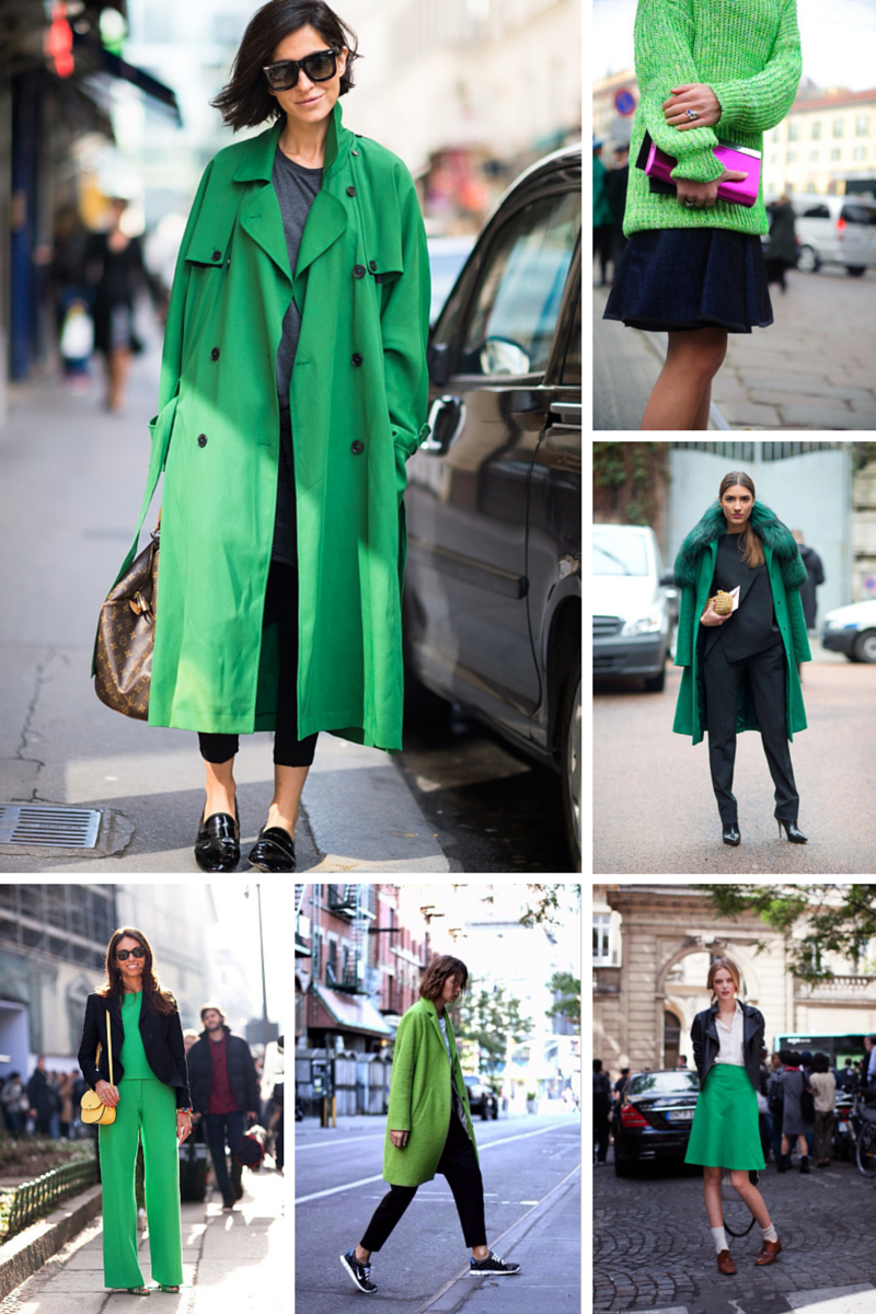 trend colour green