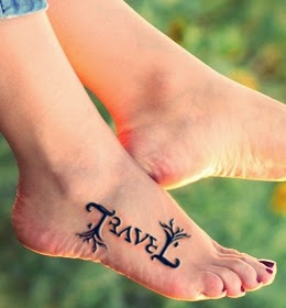 Ambigram Tattoo Design on Leg
