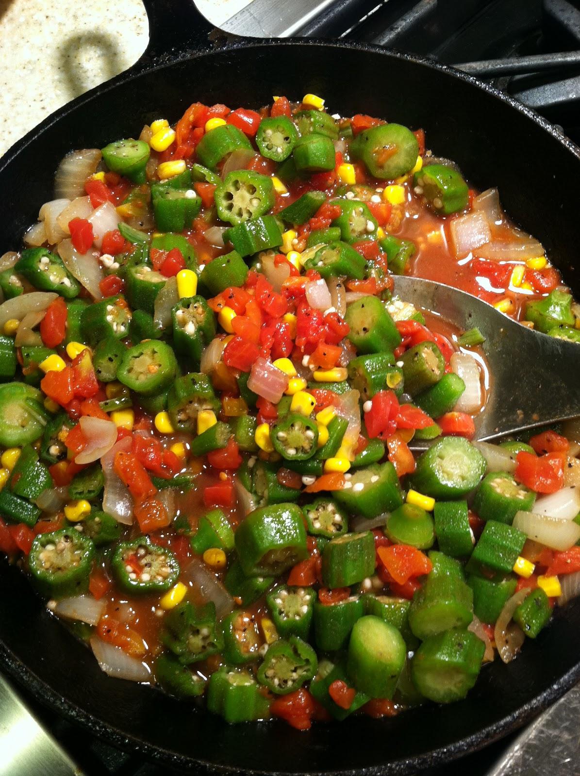Okra And Tomatoes Recipe — Dishmaps
