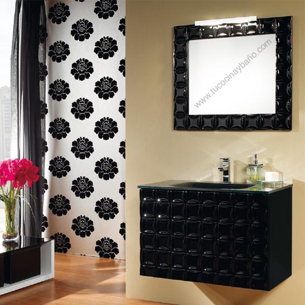 Mueble baño diseño alto brillo laca