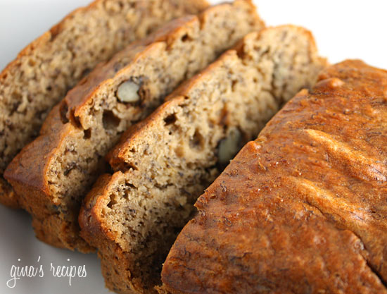 Life on Maple Grove : Low Fat Banana Nut Bread | Ginas Skinny Recipes