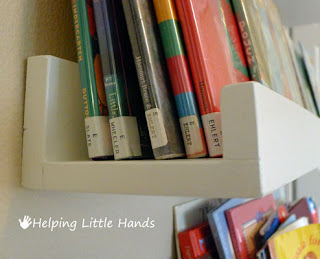 Books Shelves piecespolly: easy front-facing picture book display shelves