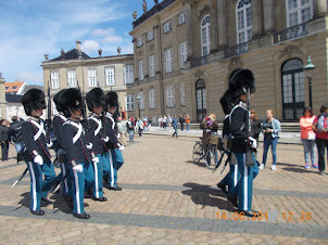 Amalienborg Palace in Copenhagen  :- Changing of Guards.