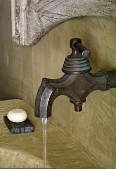 Faucet and bath photo by Pia Van Spaendonck in Maisons Cot Est Magazine, edited by lb for linenandlavender.net, post:  http://www.linenandlavender.net/2010/05/design-daily_12.html