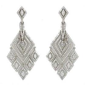 Zirconia Chandelier Earrings