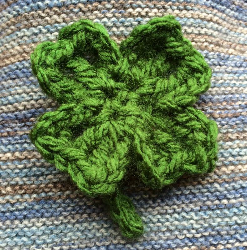 Lujoso 4 Hojas De Trébol De Patrón Crochet Modelo - Manta de Tejer ...