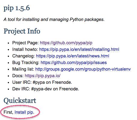 pip install pip