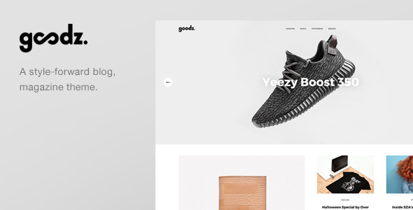 Download Goodz Magazine - A Responisve Blog / Magazine WordPress Theme