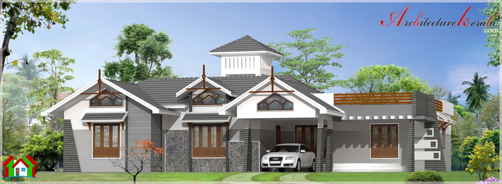 3000 square feet modern style house in single storied for 3000 sq ft house plans kerala style