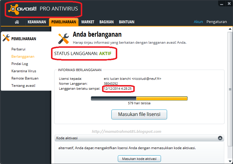 download file lisensi avast free