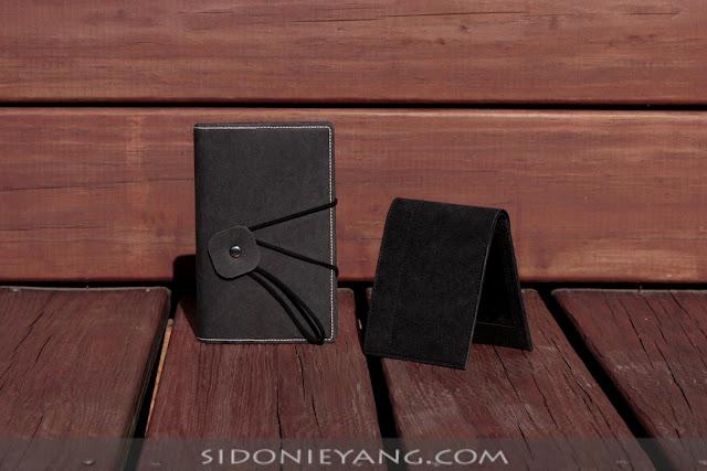 黑色可水洗牛皮紙筆記套 Washable Kraft Paper Notebook Cover in Black