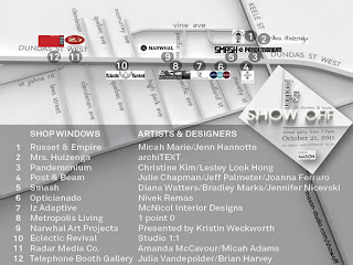 Map of Show Off @ the Junction @Dundas & Keele, Toronto, October 18 - 30, 2011, hosted by MASON