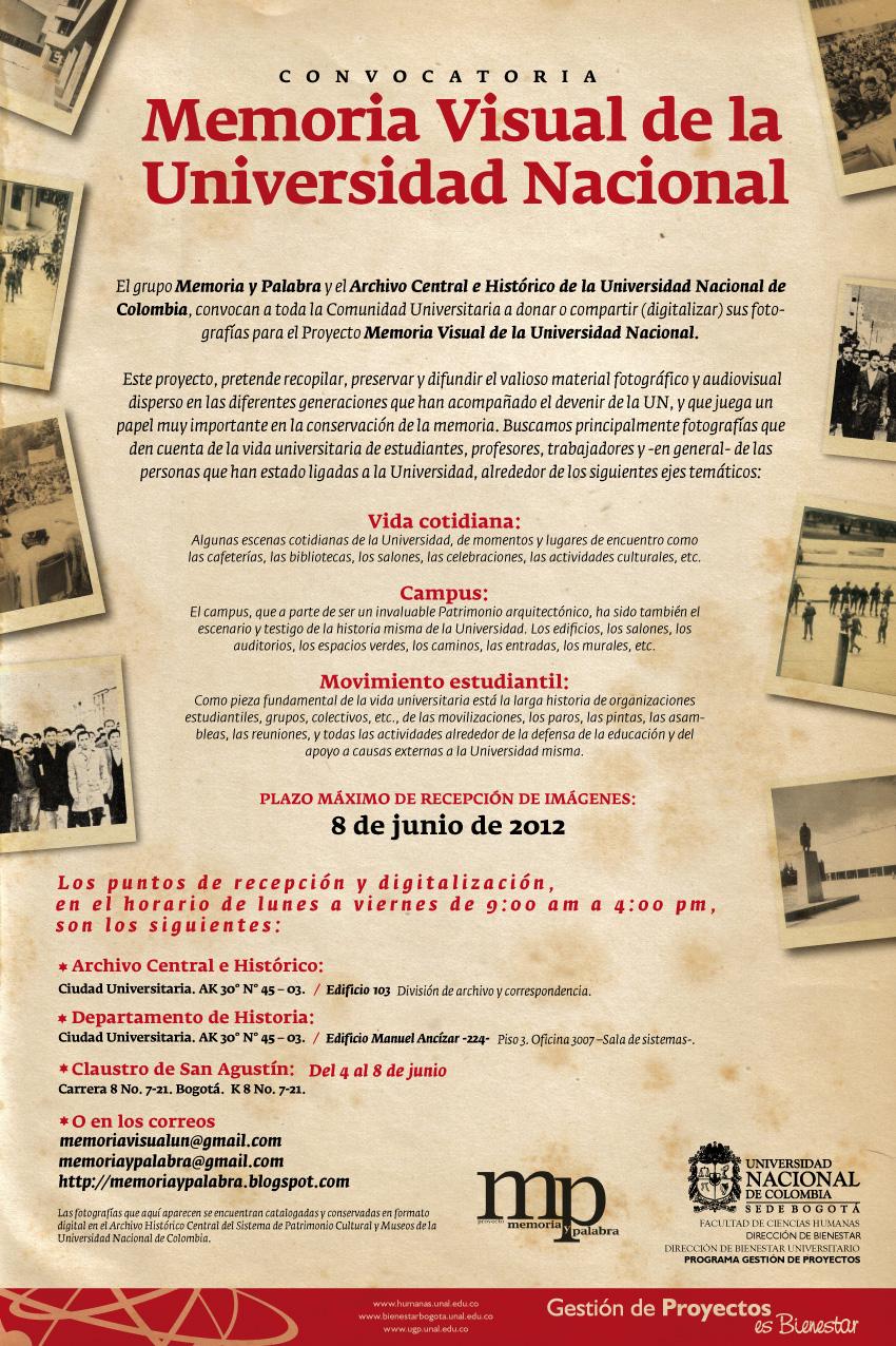 El Grupo Memoria Y Palabra Y El Archivo Central E Hist  Rico De La