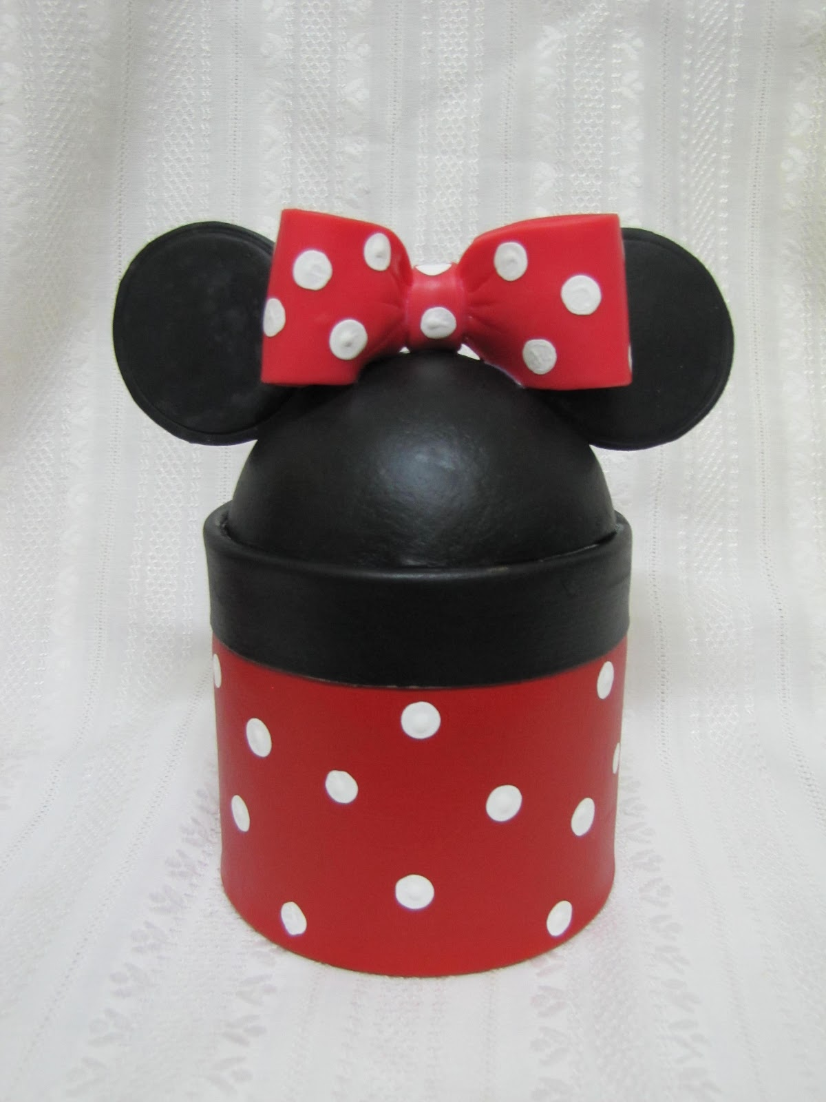 Caja Golosinera Minnie Y Mickey  Porcelana Fr  A