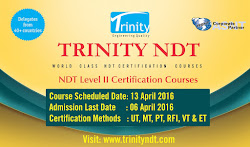 NDT Level II Certification Courses - April 2016