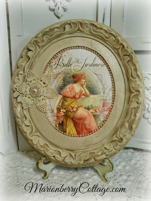 Vintage French Mixed Media Art Collage by Marionberry Cottage via http://www.prodigalpieces.com
