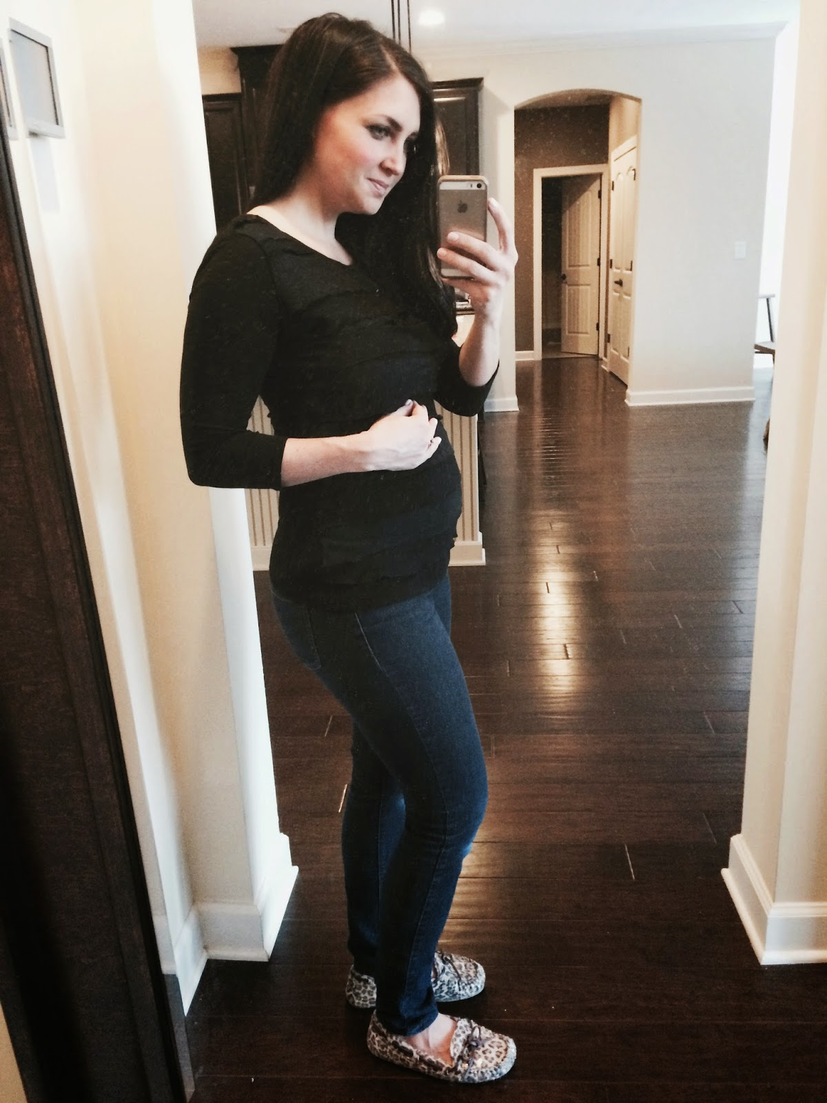 Stilettos and Diapers 12 weeks pregnant