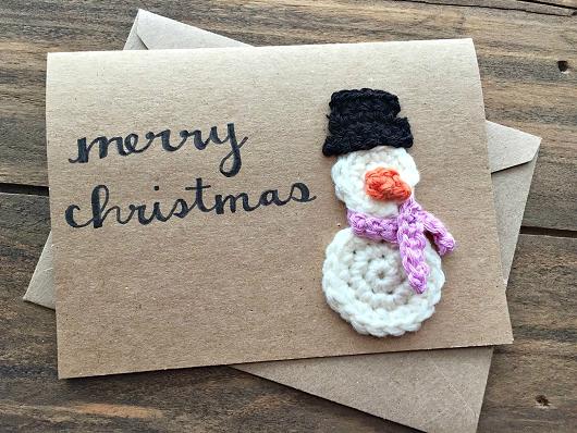 crochet-snowman-christmas-card-idea