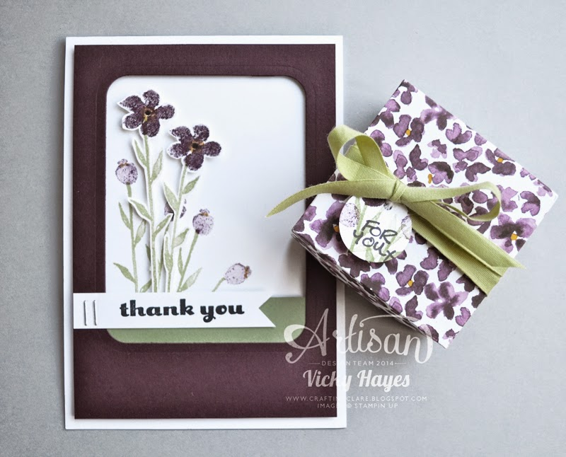 Painted Petals card and gift box set