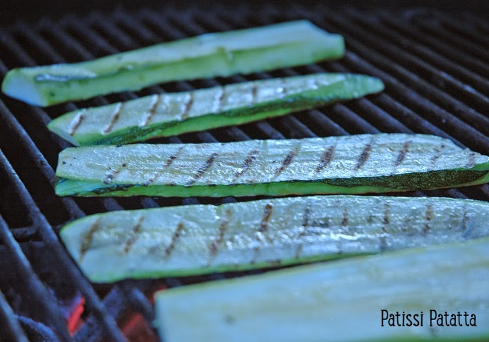 recette d'aubergines au barbecue, recette de courgettes au barbecue, eggplant and zucchini barbecue