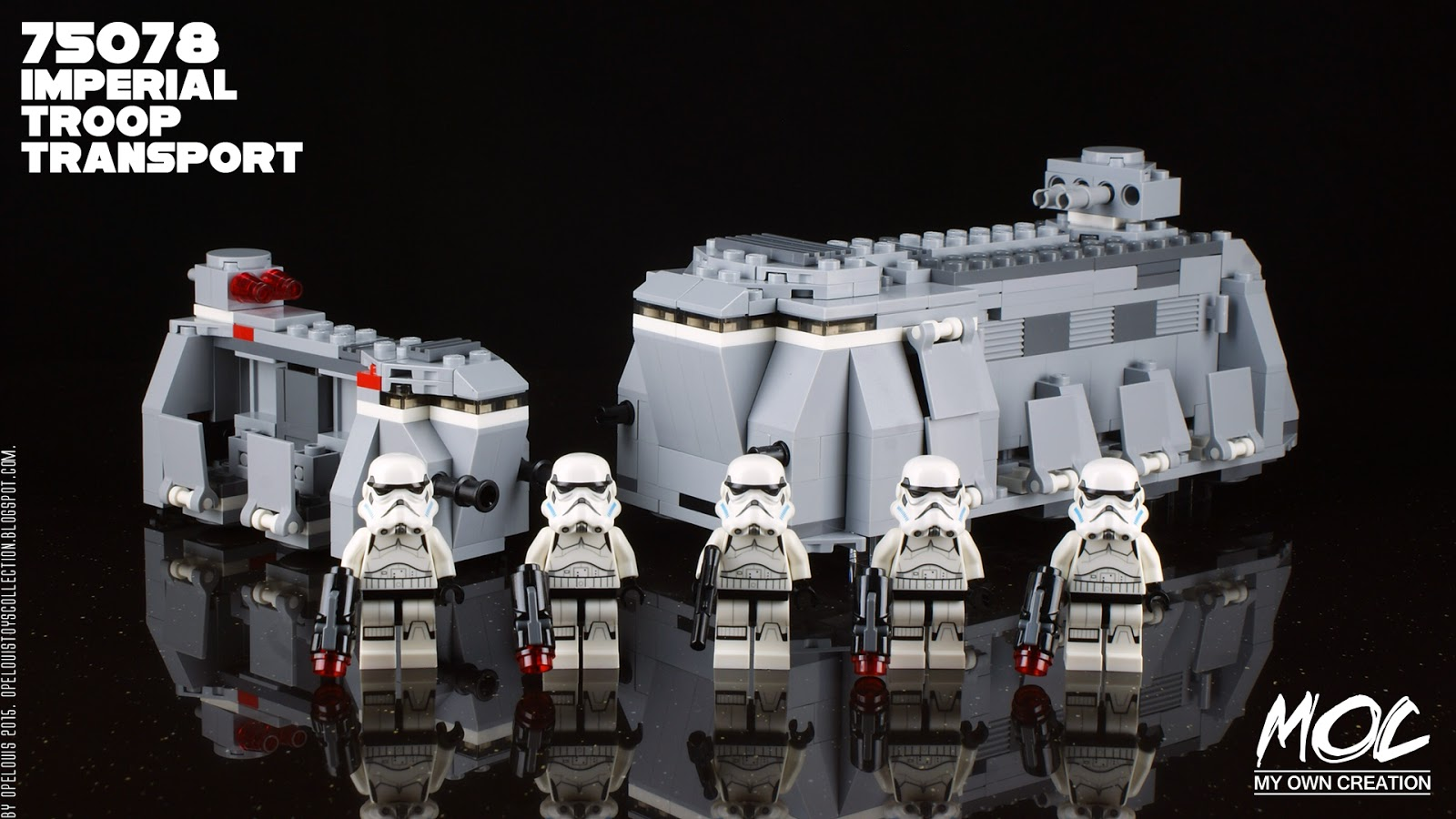 Opelouis 39 s toys collection lego moc star wars imperial troop transport ft 75078 itt updated
