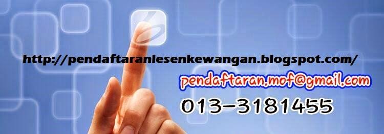 Pendaftaran Lesen/Sijil Kementerian Kewangan