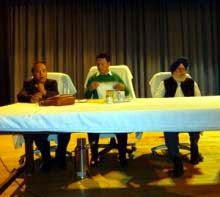 Darjeeling MP SS Ahluwalia, GJM chief Bimal Gurung and GTA Sabhasad chairman Bhupendra Pradhan