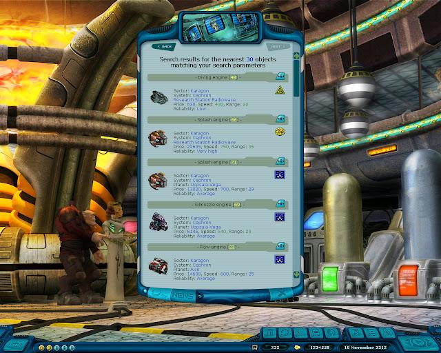 Space Rangers: A War Apart - Use the Search Screenshot