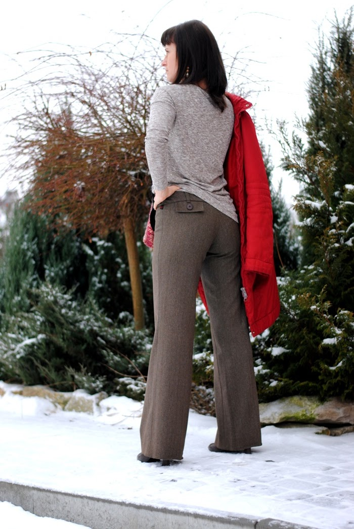 spodnie z wełną