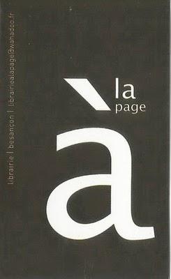 Librairie A La Page à Besançon