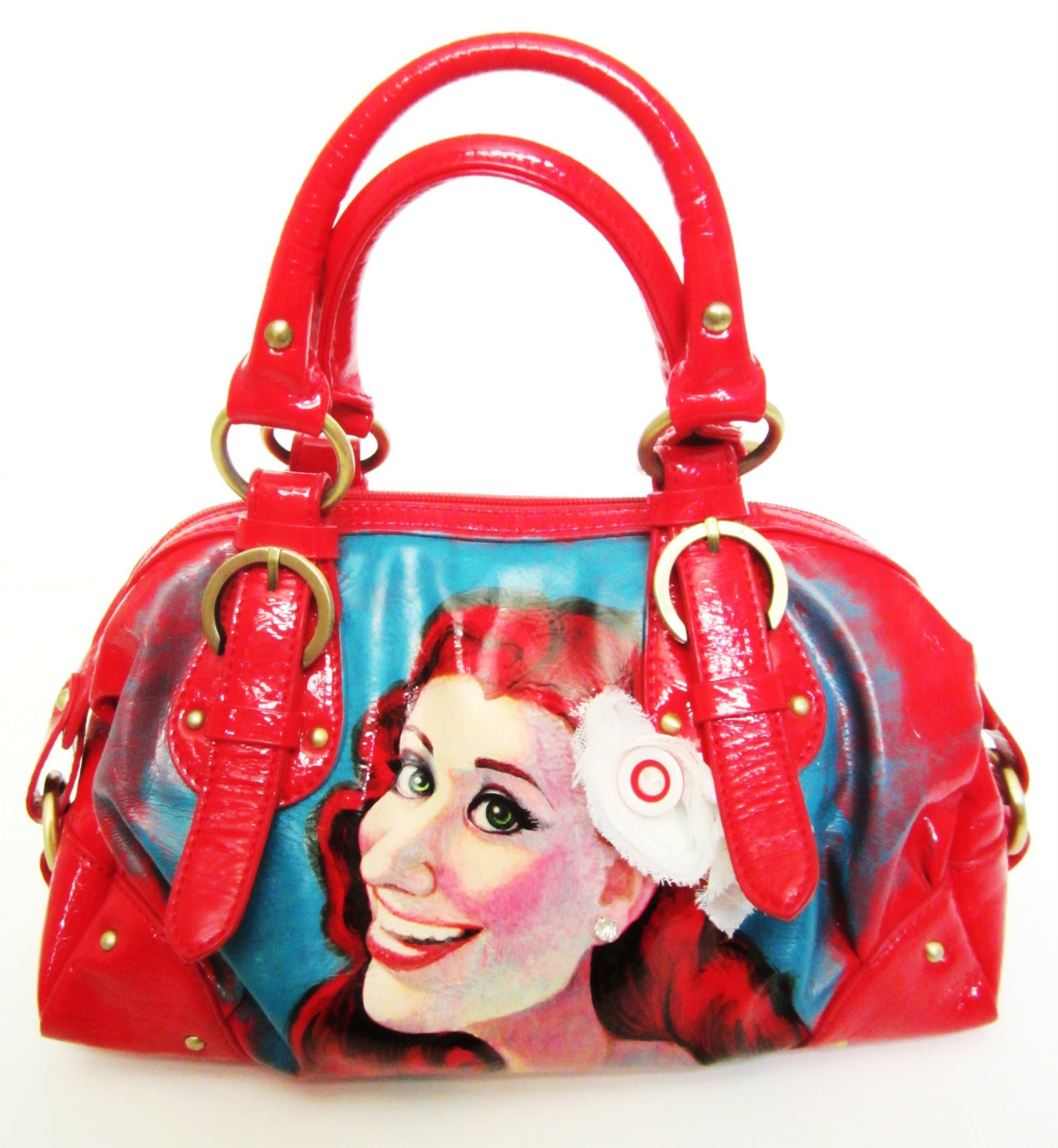 How to paint a 1950s girl retro purse