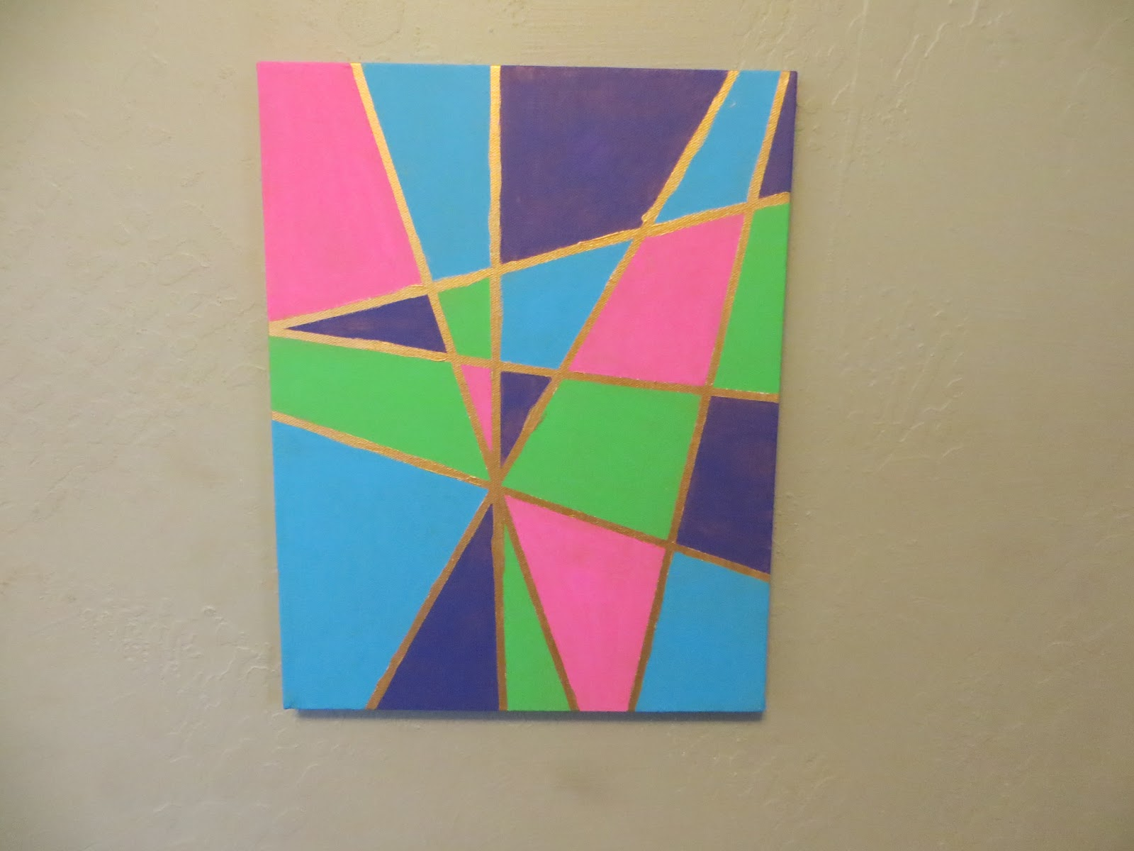 The pink elephant sisters easy diy modern art for Easy to do canvas art