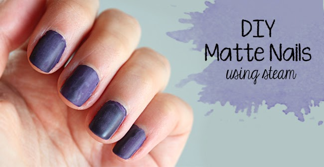 Diy matte nails using steam curly made diy matte nails using steam solutioingenieria Image collections