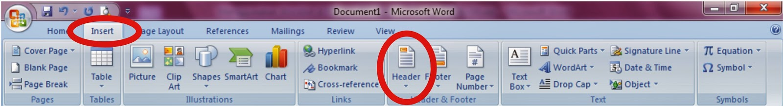 Membuat  Header and Footer dalam Microsoft Word