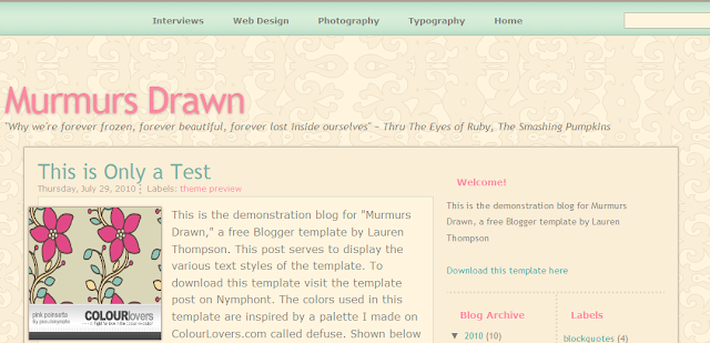 Mommy Blog Blogger Template