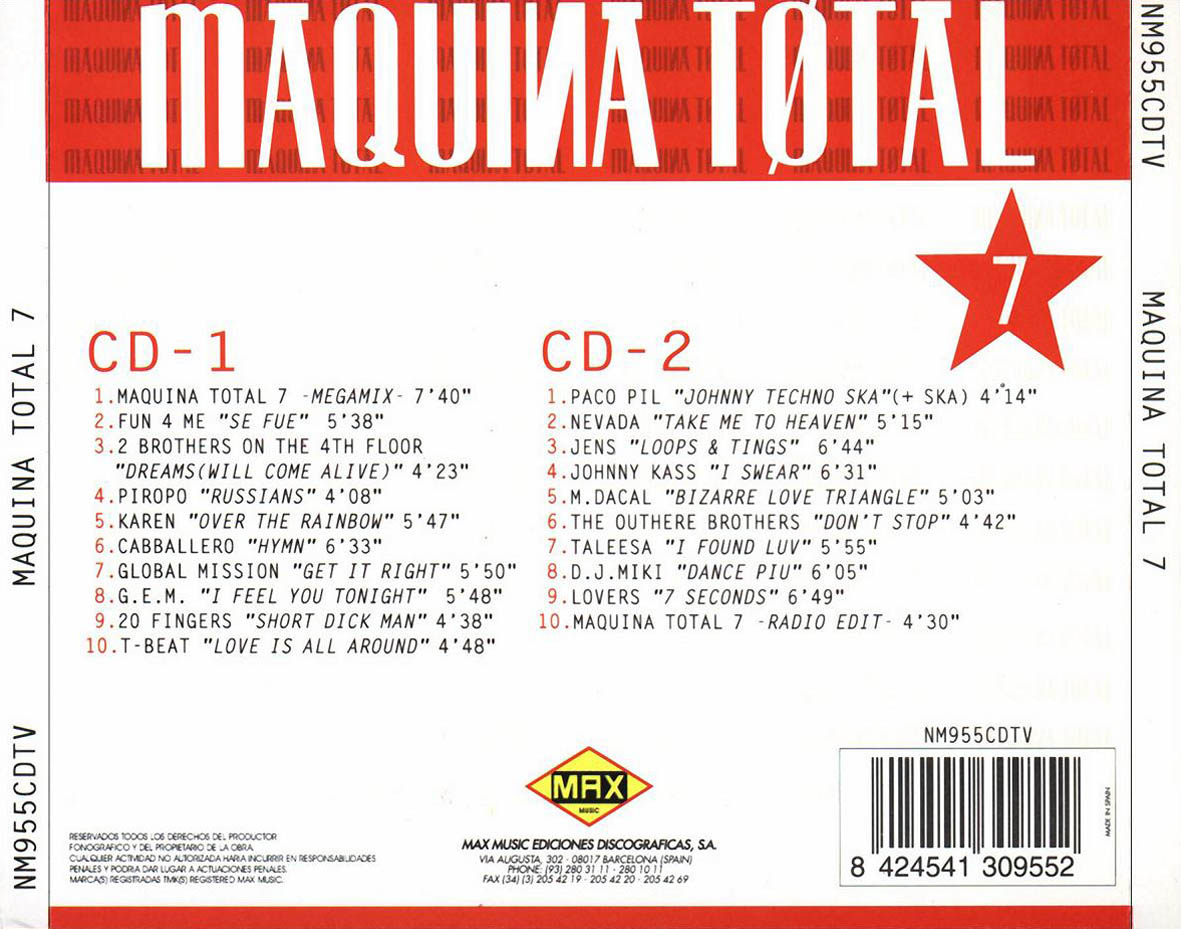 01 Maquina Total 3 Megamix Mp3 MP3 Download
