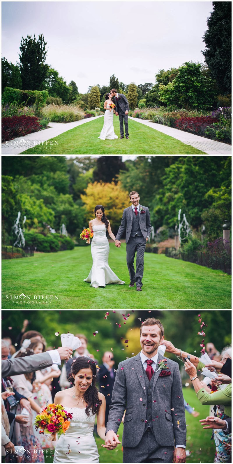 Fine art Bride and groom wedding photography at Sir Harold Hillier Gardens